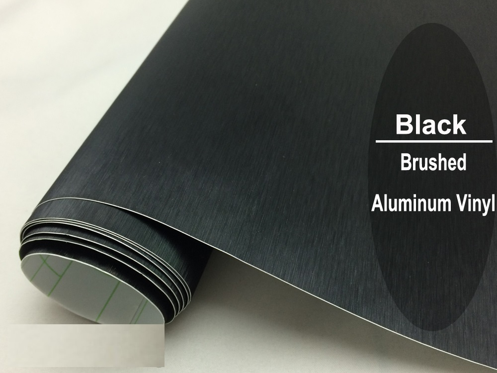 Black-Brushed-Aluminum-Vinyl-Wrap-Car-wrapping-Metallic-Brushed-Steel-Wrap-Black-Metal-Film-With-Air