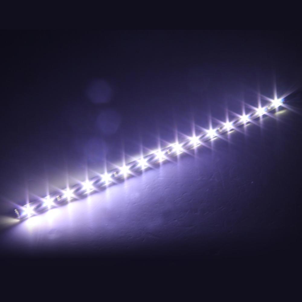 Qook-4pcs-car-Led-Strip-light-Waterproof-12V-white-pink-orange-Green-Light-30cm-15-LEDs