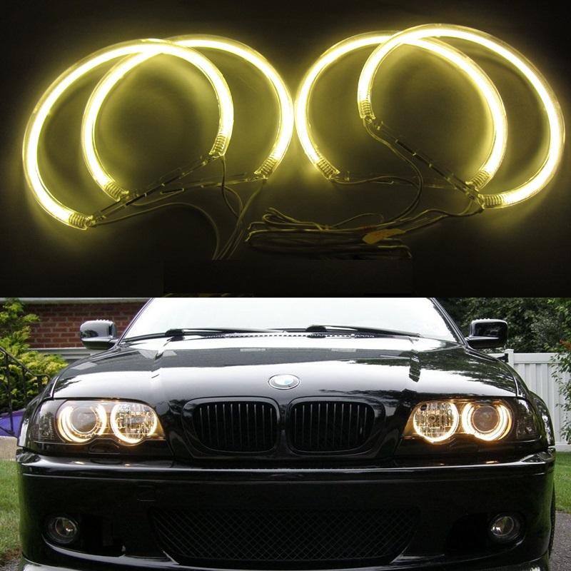angel eyes bmw e46 yellow
