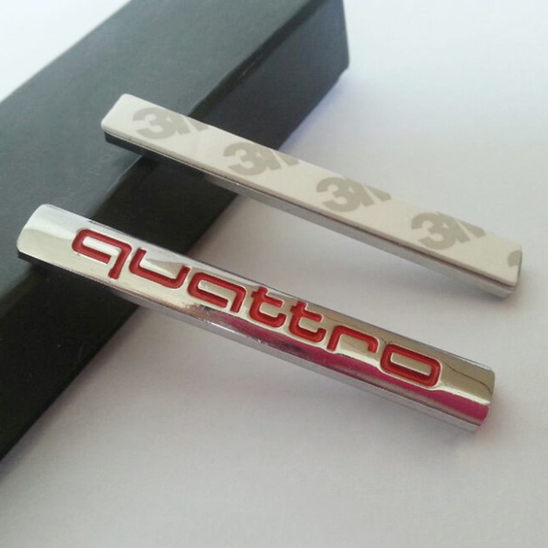quattro sticker red