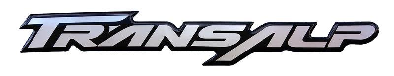 Αυτοκόλλητο φαίρινγκ Honda Transalp Ανάγλυφο [Μαύρο-Νίκελ]