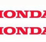 Αυτοκόλλητα Honda 10 x 1 εκ Διάφορα Χρώματα