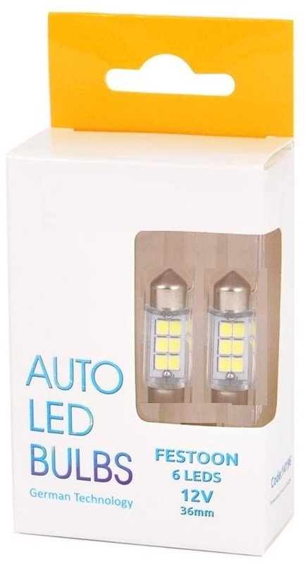 Λάμπες 6 Led 36mm Festoon 12V – 14196