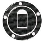 Διακοσμητική τάπα βενζίνης αυτοκόλλητη carbon look Κawasaki Suzuki με 5 τρύπες.