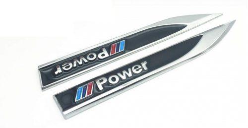 2χ Αυτοκόλλητα Μεταλλικά M-Power