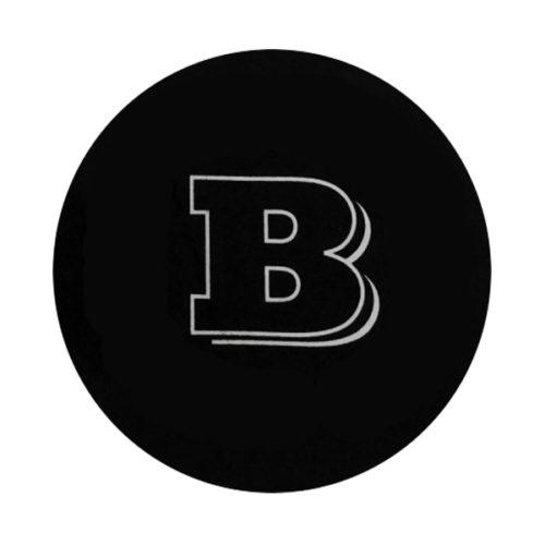 Brabus Αυτοκόλλητη Τάπα Μαύρη 9,7CM