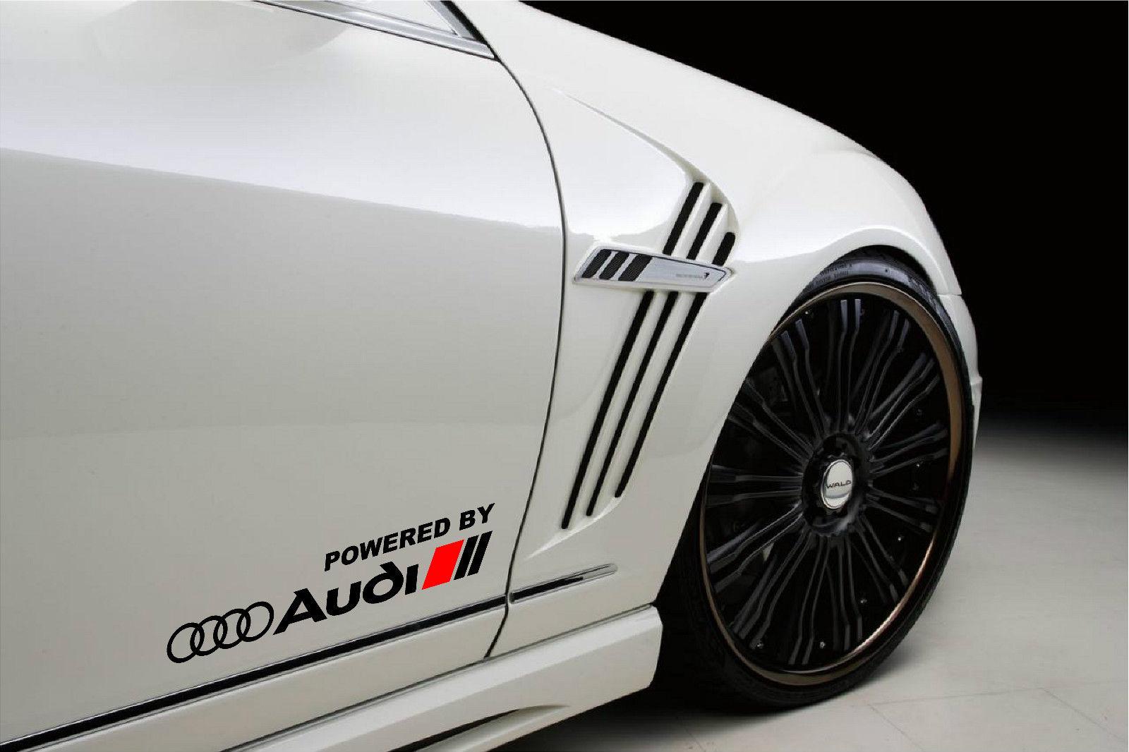 Αυτοκόλλητα σετ 2τεμ Powered by Audi Racing Sport S Line 38CM 6.2CM