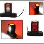 Σέτ LED Όγκου Κοντά Τριπλά Κερατάκια 24V IP66 Κόκκινό Λευκό Κίτρινο