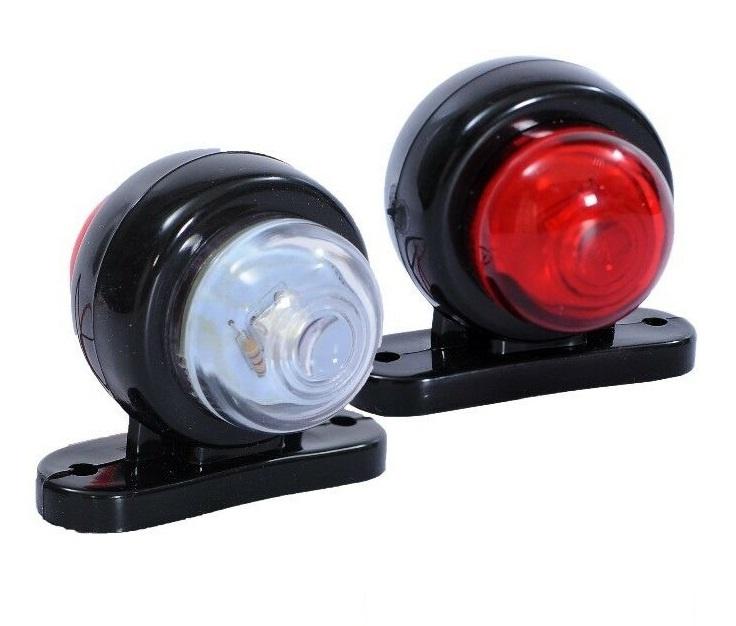 Σέτ LED Όγκου Ωμέγα Κερατάκια 12V IP66 Κόκκινό Λευκό Στρογγυλό