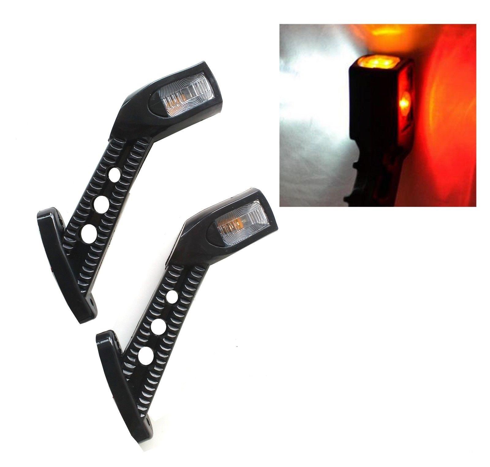 Τριπλά πλευρικά φώτα θέσης 4 LED 12V 24V (τ. κέρατα)