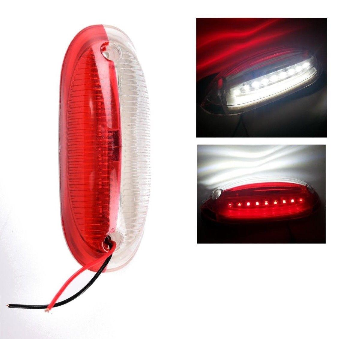 LED Όγκου Κατακόρυφα πλευρικά θέσης 12V 24V IP66 Κόκκινό Λευκό