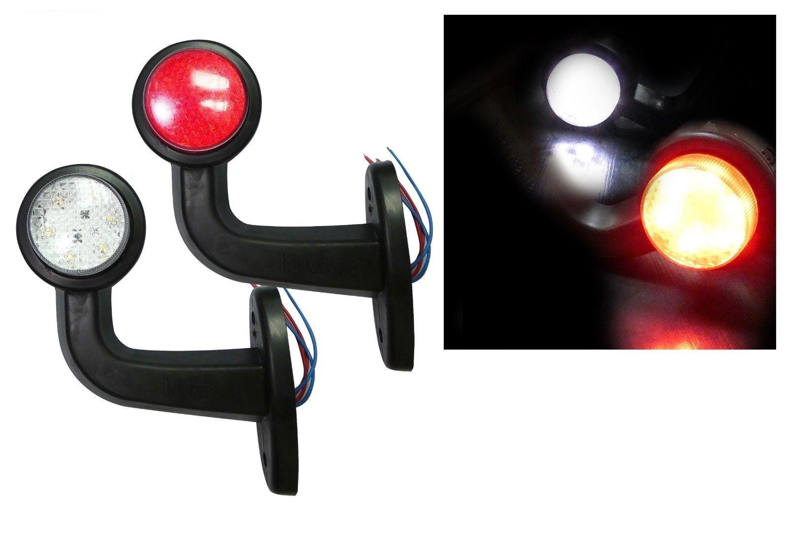 LED Όγκου Κερατάκια 12V IP66 Κόκκινό Λευκό Μικρά