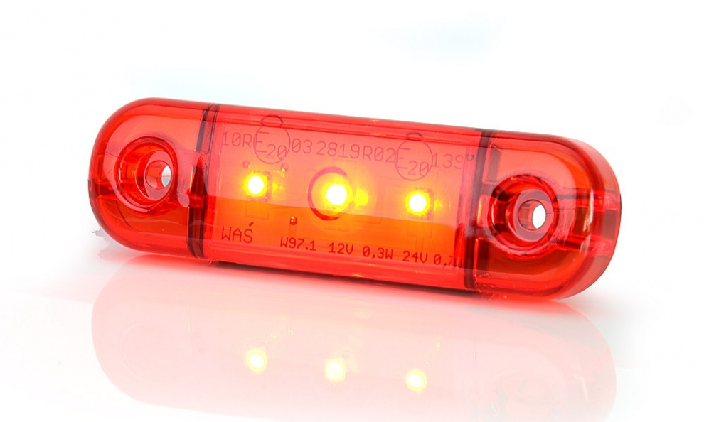 LED Όγκου Е-Mark 12V 24V IP68 Κόκκινο Με 3 SMD 8,4см