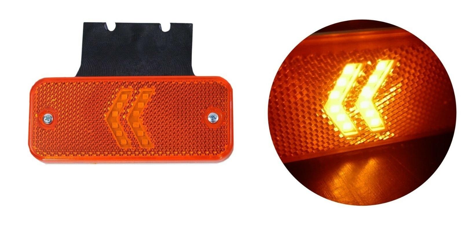 LED Φωτιστικό Πλευρικής Σήμανσης με Βάση και Βέλη 12V 24V