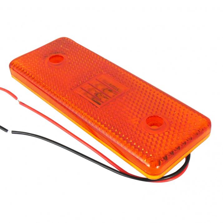 LED Φωτιστικό Πλευρικής Σήμανσης 12V Πορτοκαλί