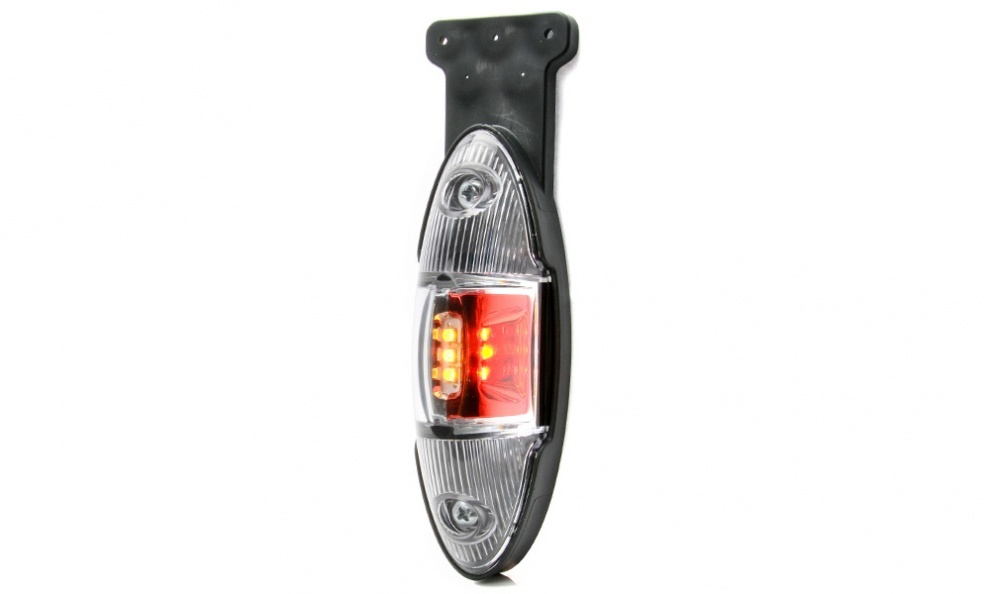 LED Φωτιστικό Πλευρικής Σήμανσης 15cm με Βάση και Е-Mark 12V 24V IP68