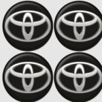 Αυτοκόλλητα ζαντών Toyota 6cm χρωμίου σμάλτου 4τεμ.