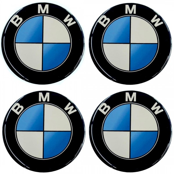 BMW ΑΥΤΟΚΟΛΛΗΤΑ ΖΑΝΤΩΝ 7,2CM ΜΑΥΡΟ ΜΠΛΕ ΛΕΥΚΟ ΜΕ ΕΠΙΚΑΛΥΨΗ ΣΜΑΛΤΟΥ – 4 ΤΕΜ.