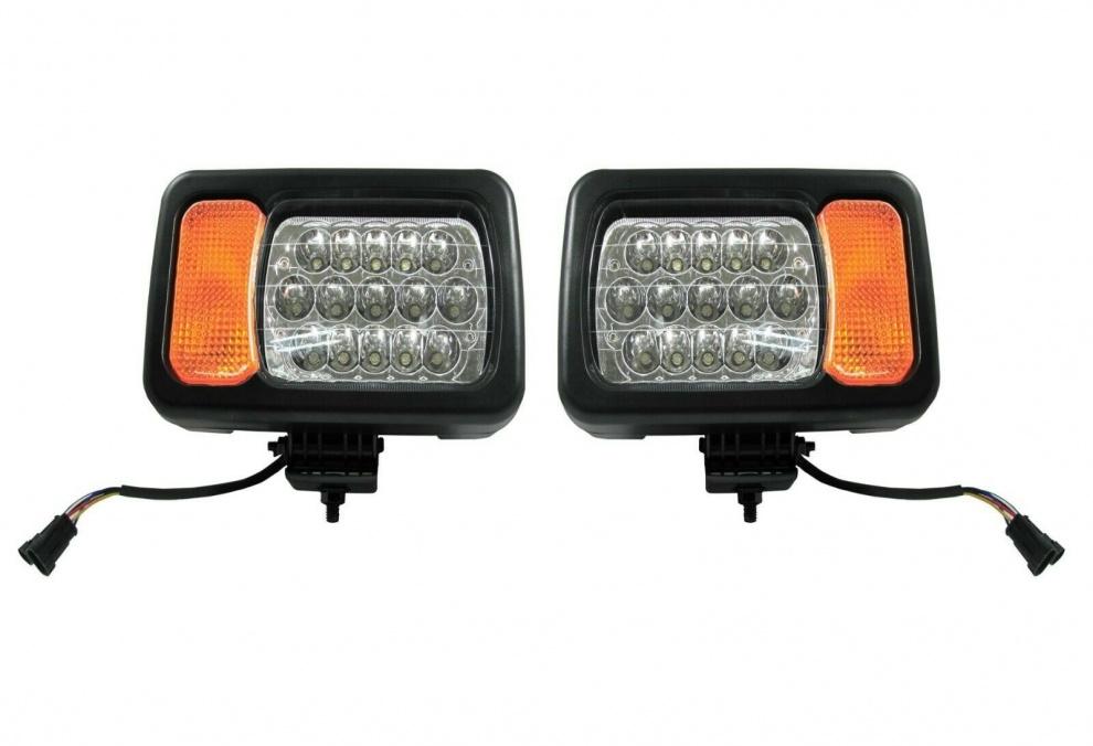 Σετ Φώτα LED Με Βάσεις και Φλάς Δεξί Αριστερό για John Deere Terex TATA με Καλωδίωση