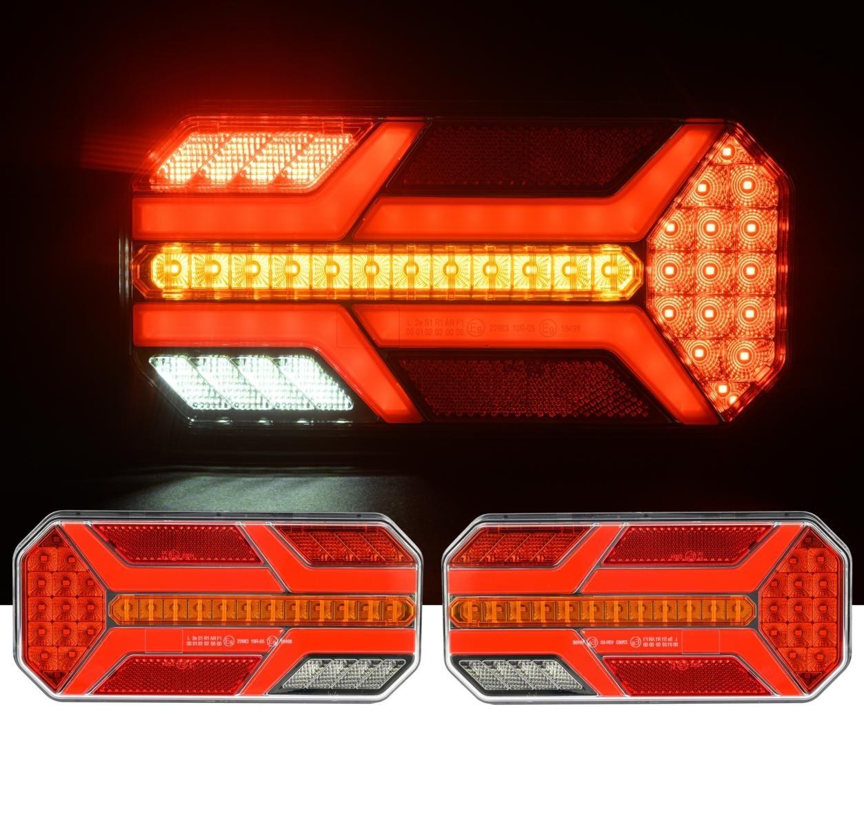 Σετ LED Φανοί Οπίσθιοι 12V 24V Φρένων – Φλας – Θέσης – Όπισθεν – Ομίχλης με 7 Λειτουργίες