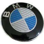 Σήμα Bmw Carbon 82mm Blue White
