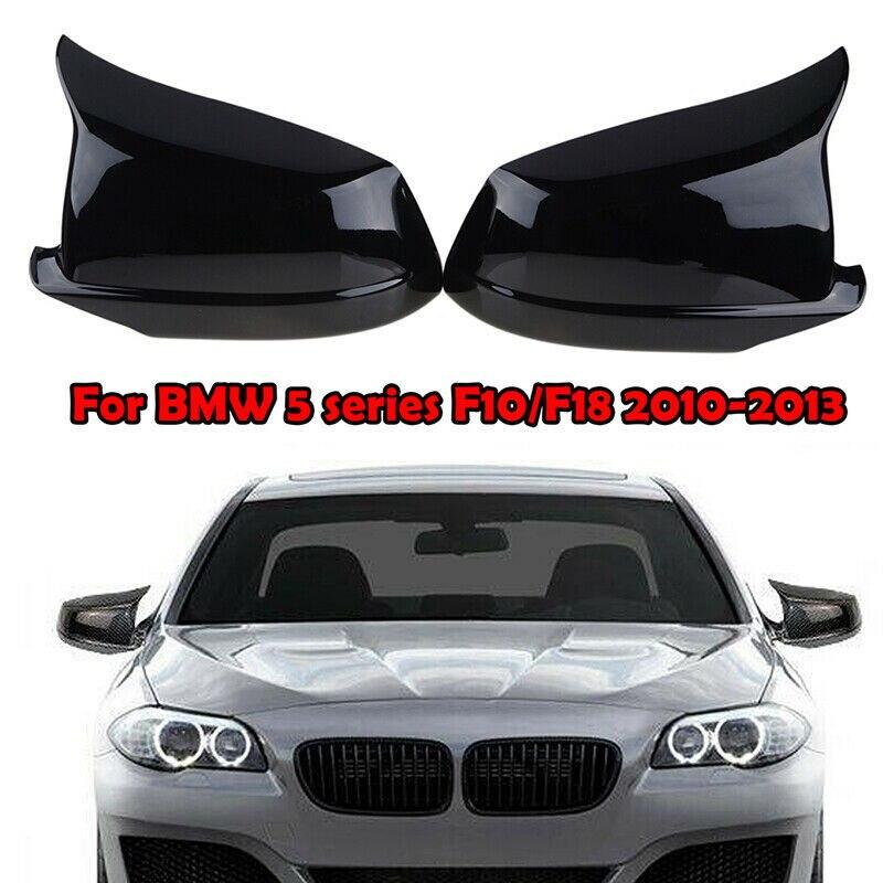 Καπάκια καθρεπτών BMW 5 F10F11 (2010-2013) M-look Μαύρο Γυαλιστερό